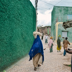 ethiopia, colorful alleys