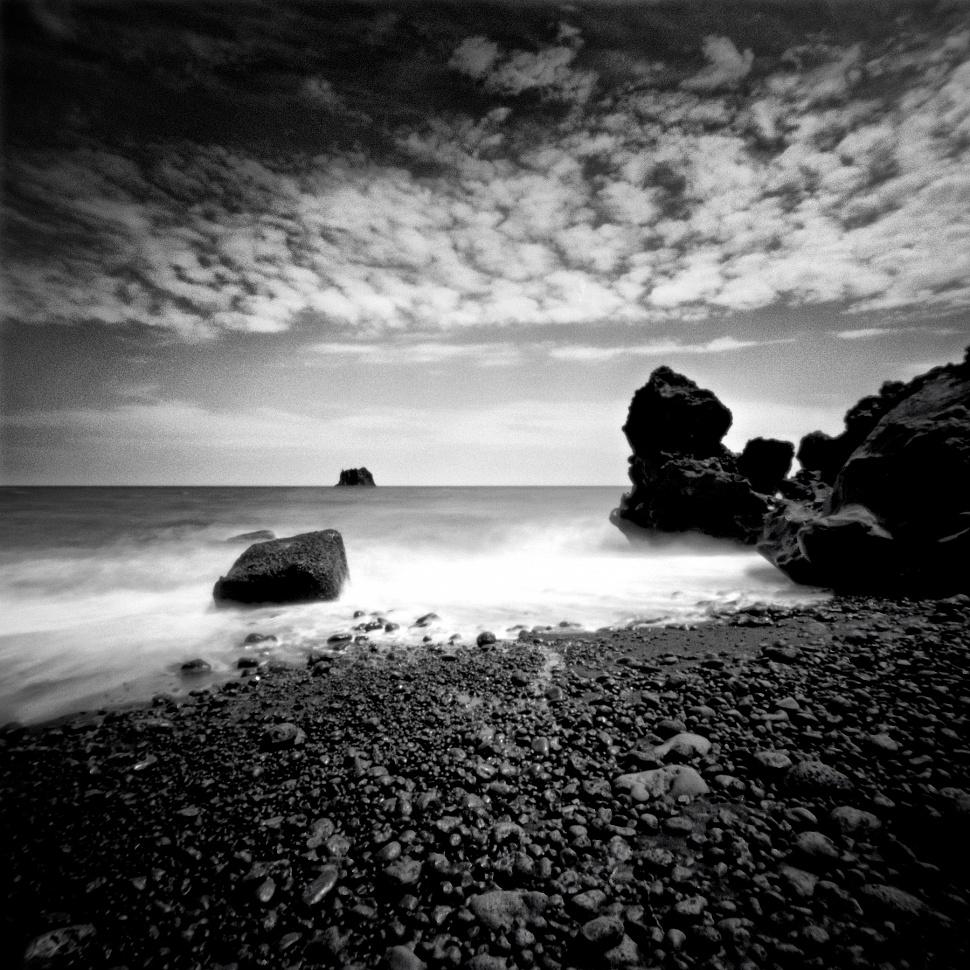Black Beach -  2nd place - International Photography Awards (IPA 2019) - Category: Analog/Film, Landscape .
